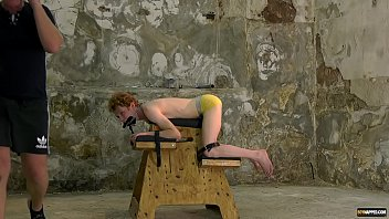 Gay bondage and torture video Tied up sub with mouthfold endures torture by sebastian kane