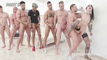Pissing Overdrive #2 Charlotte Sartre gets 6 guys with Balls Deep DAP, Gapes, Piss drink & Facial GIO1087