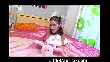 18yo Little Caprice shows her small perky tits