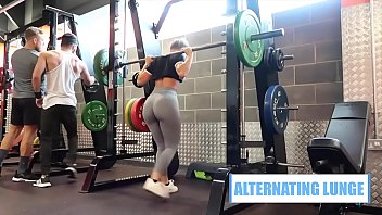Fitnes Leggin Girl with Nice Ass