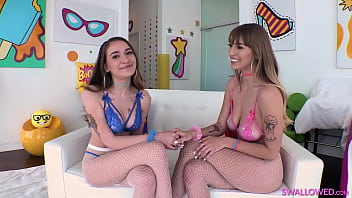 SWALLOWED Angel Youngs and Sera Ryder certified dick suckers