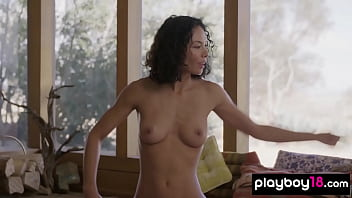 Busty MILF instructor Daniella Smith showing some gentle yoga routines