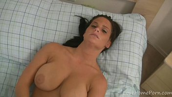 Busty maid decides to masturbate with a dildo