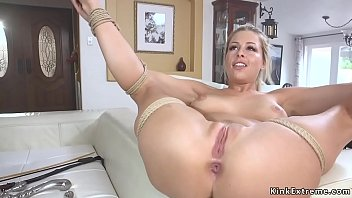 Spreaded legs blonde anal bdsm fucked