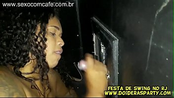 Brazilian sexy hot young babe teen fucking at swing party with gloryhole action