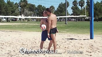 Gay hot man sex Manroyale two athletic hunks fuck on a hot day
