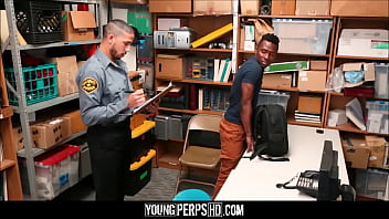 Straight Black Guy Caught Shoplifting Fucked By Gay Black Officer