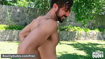 """Hairy hunk (Mason Lear) getting fucked from Paul Wagner for money - Reality Dudes <span class=""""duration"""">64 sec</span>"""
