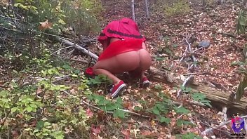 Big ass red riding hood gets fucked by a horny wolf  before she gets to grandma's house