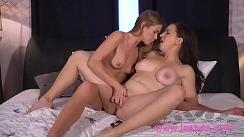 Lesbea Huge natural tits babe eating trim young Czech in lacy underwear