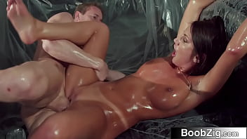 Kinky Lovers Enjoy Wild, Wet and Oily Sex (August Ames)