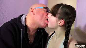 This teen with hairy pussy gets super fucked by a creepy old man thumbnail