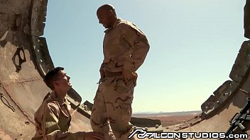 Muscular gay black falcon men Falconstudios sergeant sean zevran orders a dick suck