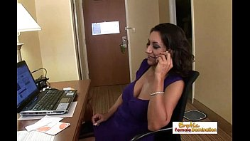 Lonely milf orders a big black cock to her hotel room