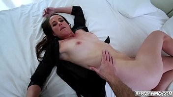 After having an awesome bathroom sex with her stepmom Sofie Marie,hot stepson Wrex Oliver is ready to grind her mature hungry cunt. 7 min