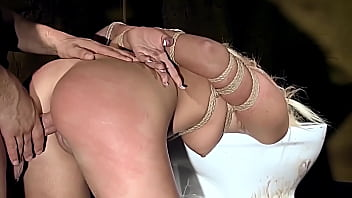 Sexy bitch Valerie Follas gets hard humiliation, and used. Part 2.  Strong throat fucking, and rough bondage sex on the toilet.