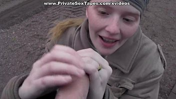 Sweet girl on camping in the adult couples porn