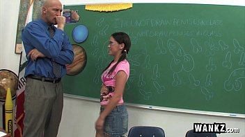Horny teacher fucks - Horny schoolgirl fucks her teacher after class