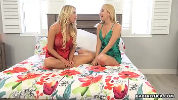 Busty Katie Morgon makes love with a girl, in 4K