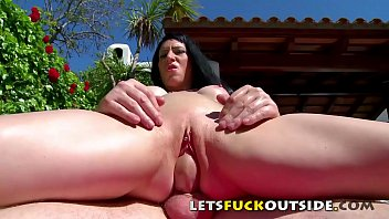 Lets Fuck Outside - Oiled-up My Sun Bathing Petite Step Sister