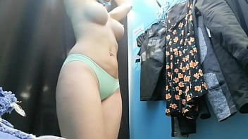 Beauty Russian  with big boobs and nipples Dre and nipples Dressing room