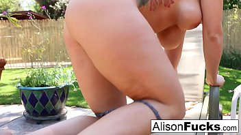 Sun bathing leads to a masturbation session with Alison Tyler