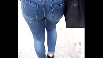Hot ass in tight jeans walking