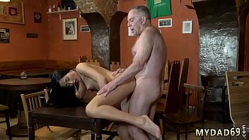 Old dad and young partner'_s daughter shower Can you trust your