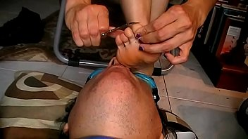 Alessia'_s Self Pedicure (Italfetish)