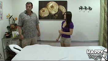 [420] Cute Little Asian Mika Kim Gives Old Man Happy Ending