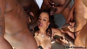 Top MILF Lisa A nn DP gangbanged before interr d before interracial facial