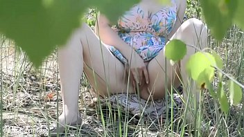 Cutie babe walks without panties in a public place, blowjob and tight pussy