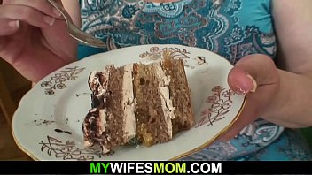 Huge mother-in-law rides his cheating dick