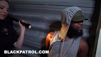 BLACK PATROL - MILF Police Officers With Big Tits Fuck A Rapper thumbnail