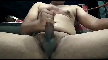 Your lucky gay Man playing with his foreskin cut penis