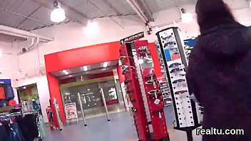 Stellar czech teenie gets teased in the hypermarket and shagged in pov