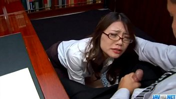 Blowjob at work along naughty Japanese Ibuki