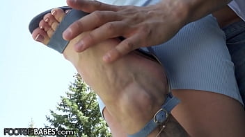 FootsieBabes Tiffany Tatum Gets Her Tight Pussy Smashed And Feet Fucks Her Man