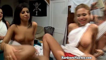 Orgy loving babes toga party fuckfest 7 min