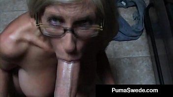 Pov blow job video - Euro porn star puma swede gets milky glasses after blow job