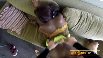 Hot Ebony Babe Rimming On Casting Tape
