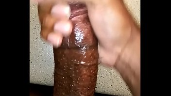 BBC POV strokes out a load of cum and plays with it