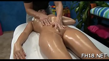 Cute 18 year old girl gets fucked hard by her masseur