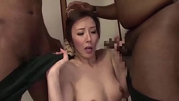 Asian MILF threesome with BBC