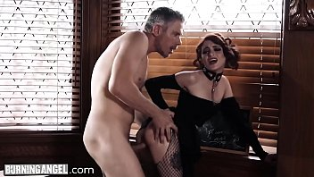 BurningAngel Goth Masturbating In Detention is Anally Punished
