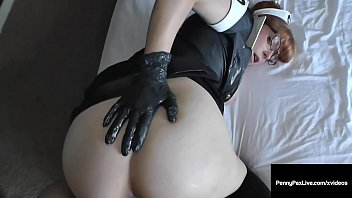 Hot Latex Nurse Penny Pax Cures Cock-Itus By Milking A Dick!