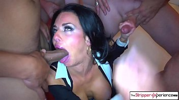 I fucked a stripper after work - Sexy milf veronica avluv sucking six big cocks
