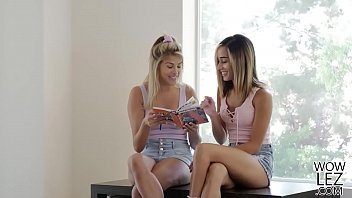 Teen Babes Having Lesbian Sex In Their Tutors Bed Stephanie West And Averie Moore