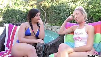 Whitney Wright and Zoey Parker tag team an older guy in the bedroom!