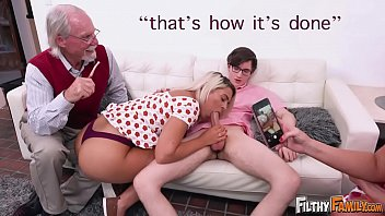 Hot boyfriend orgy Filthy family - everyone joins this twisted orgy, including grandpa